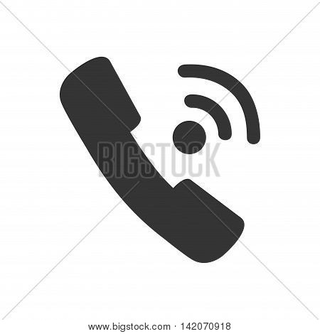 call handset phone hold communication electronic calling line talking technology devices vector graphic isolated and flat illustration
