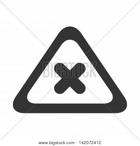 warning sign no cross x danger caution icon stop vector graphic isolated and flat illustration