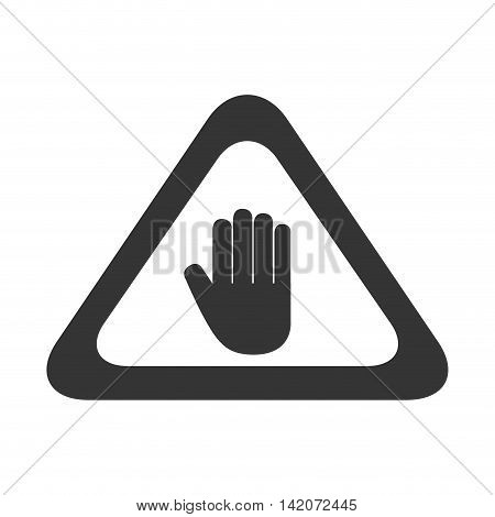 hand sign precaution attention signal caution information palm vector graphic isolated and flat illustration
