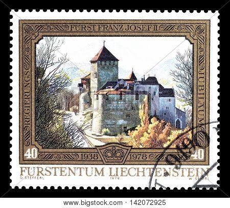 LIECHTENSTEIN - CIRCA 1978 : Cancelled postage stamp printed by Liechtenstein, that shows Castle.