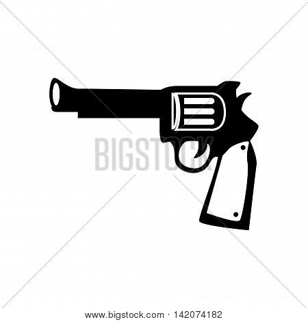gun vintage west arms weapon handgun old ranch war vector graphic isolated and flat illustration