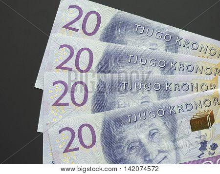 20 Swedish Krona (SEK) banknotes currency of Sweden (SE)
