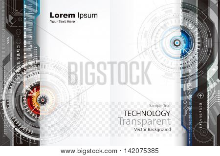 Abstract technology composition with transparent background design.