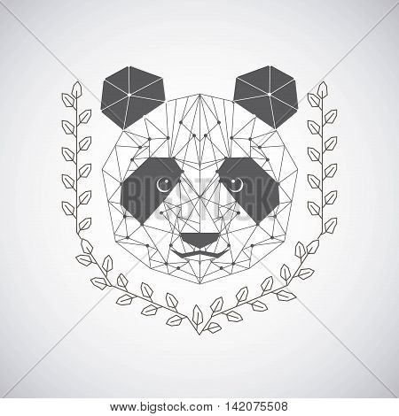 bear low poly animal, vector illustration eps10