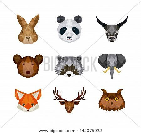set of animals over white background, vector illustration