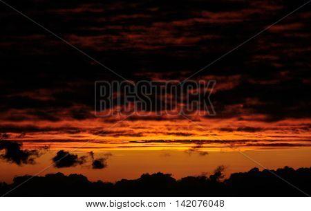 Dark Reddish Skies