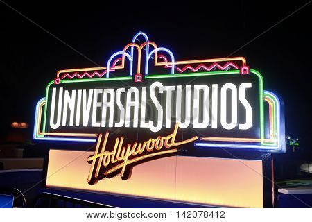 Los Angeles California USA - june 05 2015: Universal Studios Hollywood the Entertainment Capital of LA is the first film studio and theme park of Universal Studios Theme Parks across the world