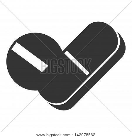 pill medicine healthy care pharmacy medical prescription vector graphic isolated and flat illustration