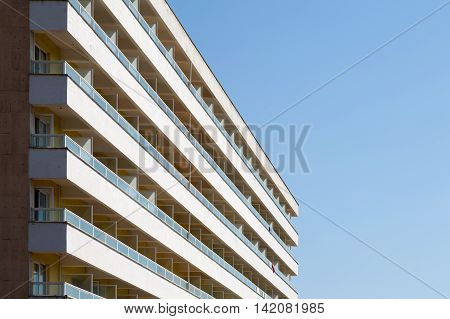 Typical spanish residential or holiday apartment block