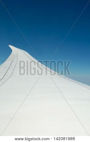 Image of aircraft wing taken at 43000 feet