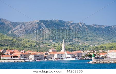 View From The Sea At The Resort Jelsa, Croatia
