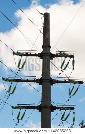 Insulators of Power line are support the conductors and withstand both the normal operating voltage and surges due to switching and lightning.