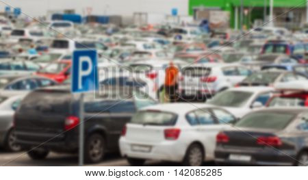 Parking at the shopping center - not a safe place, blur