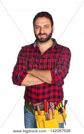 Worker With Plaid Shirt