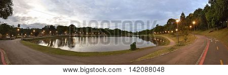 landscape photography of the St. Lawrence park sunset in Curitiba