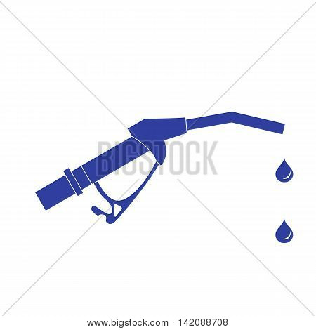 Stylized Icon Of The Fuel Gun With The Fuel Drops