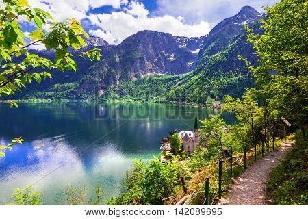 Hallstatt  - picturesue lake and village in Austrian Alps