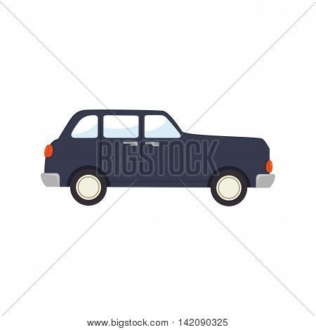 car classic sedan  old vintage side  vehicle auto automobile transport icon modern vector graphic isolated and flat illustration