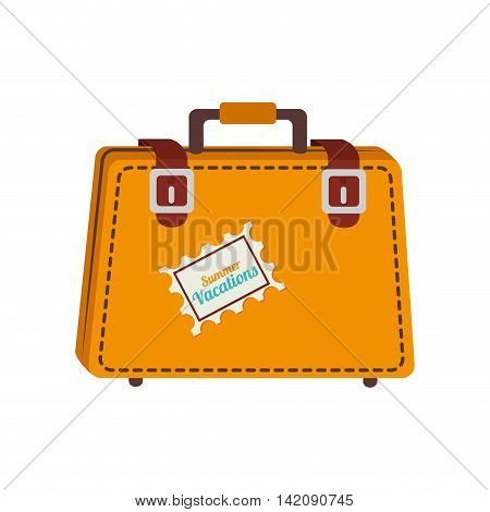 suitcase travel case vacation luggage destination vector graphic isolated and flat illustration