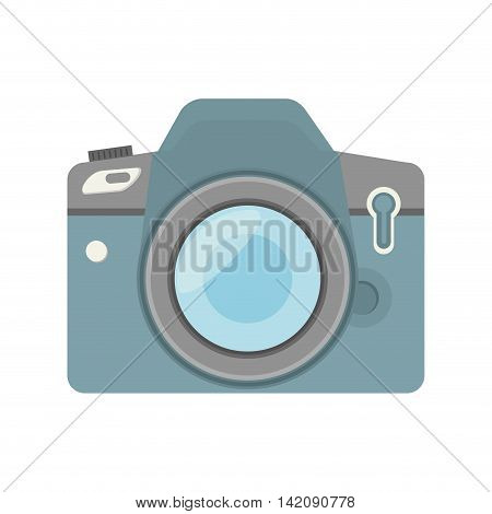 camera professional picture lens buttons device photography vector graphic isolated and flat illustration