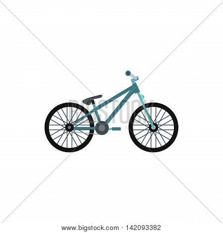 Bike icon in flat style isolated on white background. Riding symbol