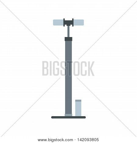 Pump for bicycle icon in flat style isolated on white background. Pumping symbol