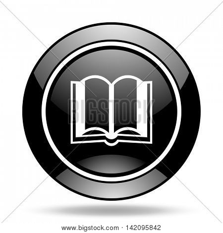 book black glossy icon