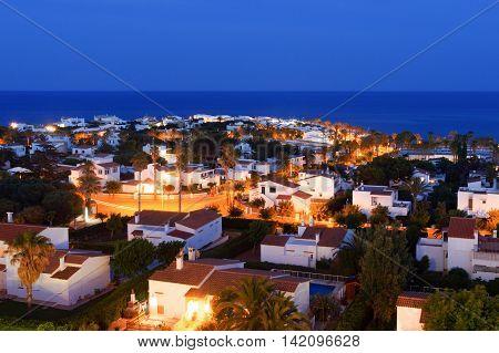 The Mediterranean  seaside village of S'algar in Menorca