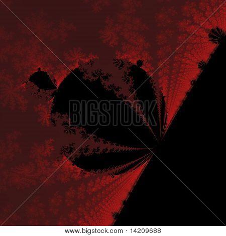 Impacto em vermelho e preto
