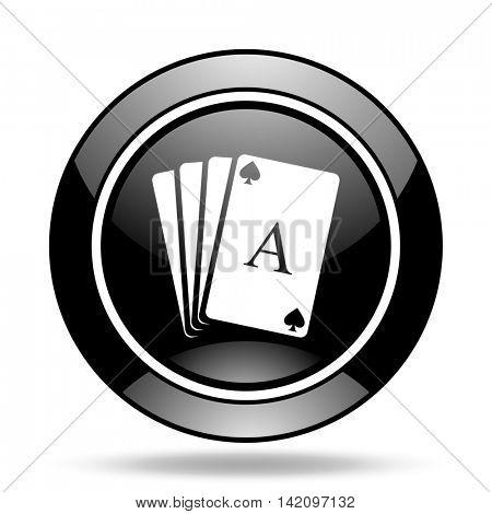 card black glossy icon