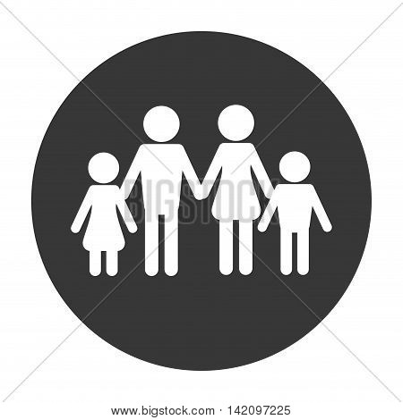 flat design traditional family pictogram icon vector illustration