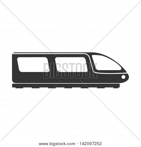 train metro modern electric side transportation speed vehicle railway vector graphic isolated and flat illustration