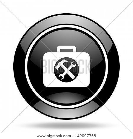 toolkit black glossy icon