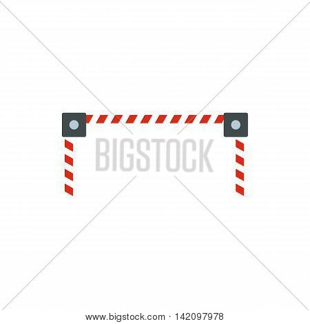 Car barrier icon in flat style isolated on white background. Obstacle symbol