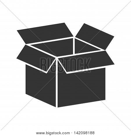 box packing top  label package cube open delivery vector graphic isolated and flat illustration