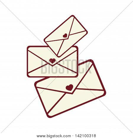 mail love letter heart  romance romantic envelope vector graphic isolated and flat illustration