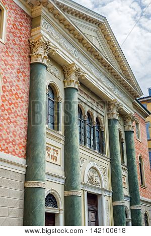 Synagogue Of Modena. Emilia-romagna. Italy.