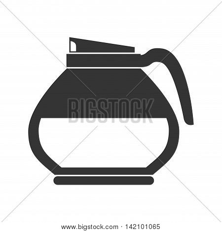 coffee pot handle hot cafe drink morning teacup steam vector graphic isolated and flat illustration