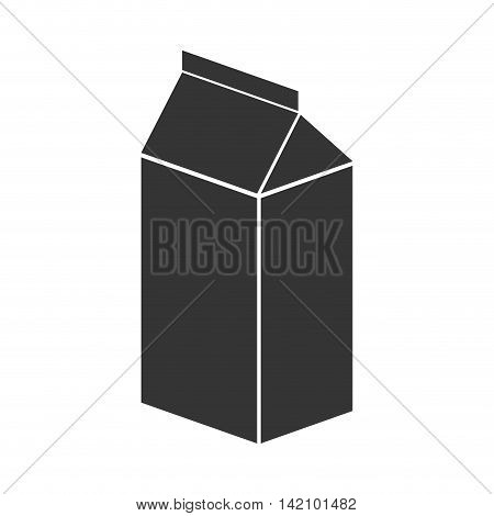 carton box paper drink milk packaging container vector graphic isolated and flat illustration