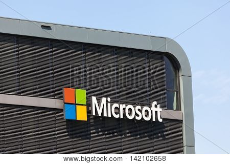 COLOGNE GERMANY - AUG 7 2016: The Microsoft Technology Center (MTC) in the city of Cologne Germany