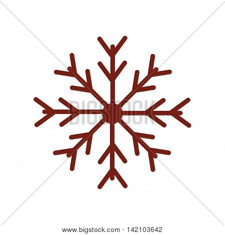 snow flake christmas cold freeze frost season winter vector graphic isolated and flat illustration