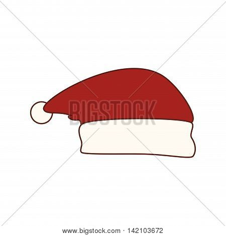 santa hat claus winter season christmas december cap costume vector graphic isolated and flat illustration