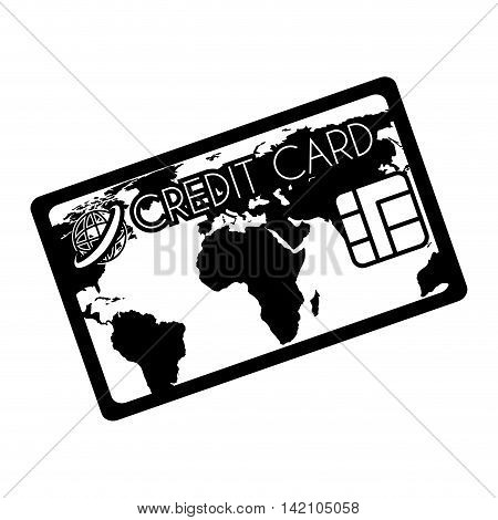 card  credit money pay chip transaction plastic  money vector graphic isolated and flat illustration