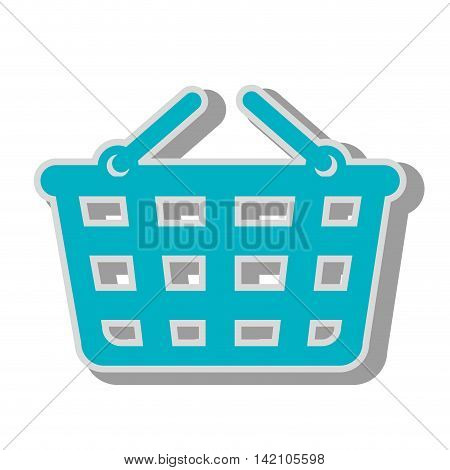 basket supermarket handles carry bucket shopper store vector graphic isolated and flat illustration