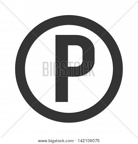parking symbol sign circle p zone garage car vehicle vector graphic isolated and flat illustration