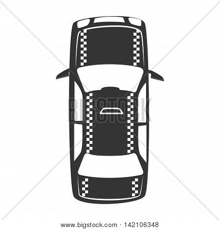 taxi vehicle top transportation car sedan automobile vector graphic isolated and flat illustration