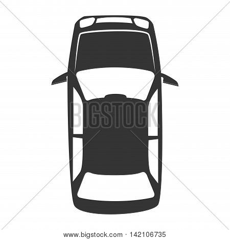 vehicle top transportation car sedan automobile vector graphic isolated and flat illustration