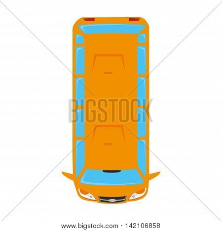 van wagon bus vehicle top transportation car sedan automobile vector graphic isolated and flat illustration