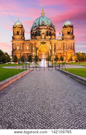 The Berlin Cathedral in Berlin, Germany.