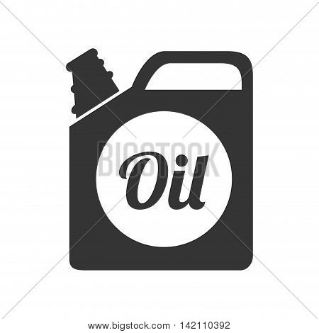 oil bottle gallon liquid tool fuel mechanic industry vector graphic isolated and flat illustration